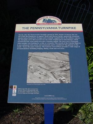 The Pennsylvania Turnpike Marker image. Click for full size.