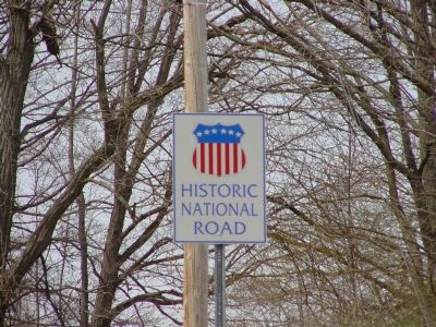 Historic National Road Sign image. Click for full size.