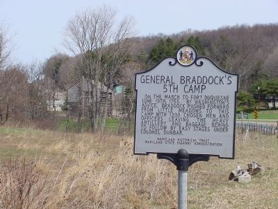 General Braddock's 5th Camp Marker image. Click for full size.