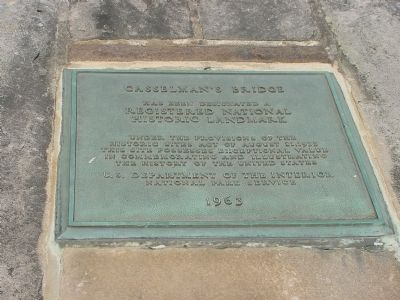 Casselman's Bridge Historic Landmark Plaque Photo, Click for full size