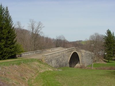 The National Road's Casselman River Bridge Photo, Click for full size