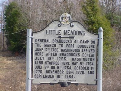 Little Meadows Marker image. Click for full size.