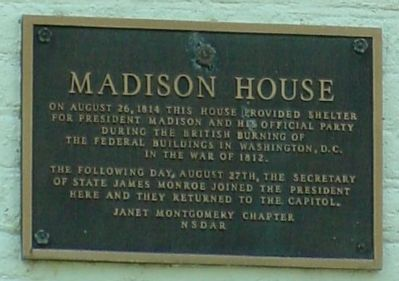 Madison House Marker Photo, Click for full size