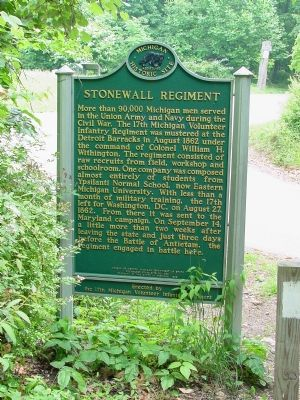 Stonewall Regiment Marker, North Face image. Click for full size.