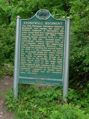 Stonewall Regiment Marker, South Face image. Click for full size.