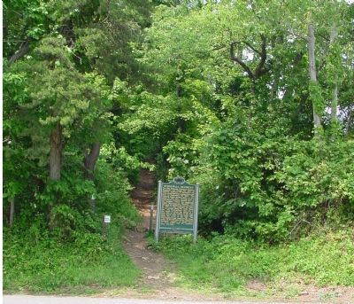 "Marker at the ""Entrance"" of the Appalachian Trail Northbound image. Click for full size."