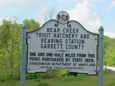 Bear Creek Trout Hatchery and Rearing Station Marker image. Click for full size.