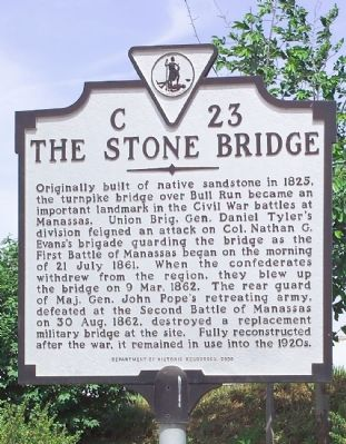 The Stone Bridge Marker image. Click for full size.