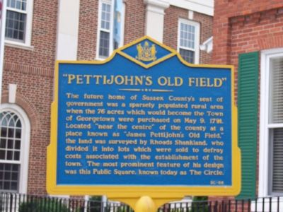 """Pettijohn's Old Field"" Marker image. Click for full size."