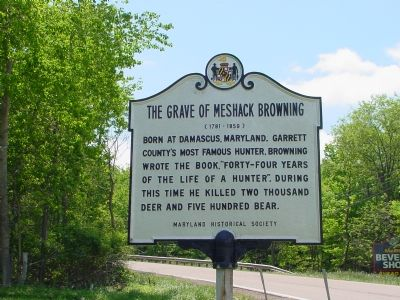 The Grave of Meshack Browning Marker image. Click for full size.