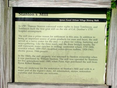 Stanton's Mill Marker image. Click for full size.