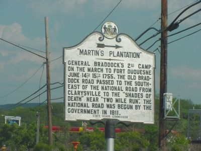 Martin's Plantation Marker image. Click for full size.