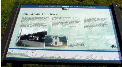The La Vale Toll House Marker image. Click for full size.