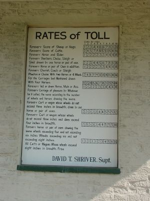 Rates of Toll Posted at the Toll House image. Click for full size.