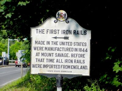 The First Iron Rails Marker image. Click for full size.