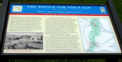 The Battle for Fox�s Gap Marker image. Click for full size.