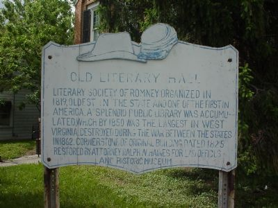 Old Lietrary Hall Marker image. Click for full size.