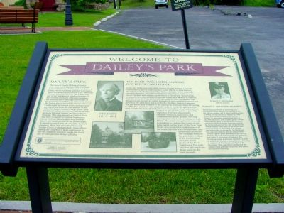 Welcome to Dailey's Park Marker image. Click for full size.