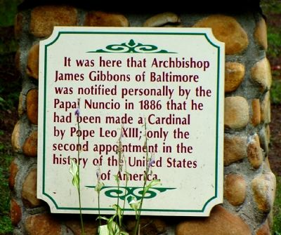 James Cardinal Gibbons Marker image. Click for full size.