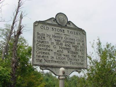 Old Stone Tavern Marker image. Click for full size.