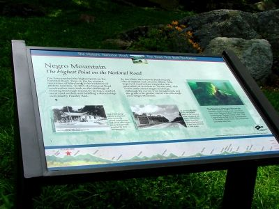 Negro Mountain Marker Photo, Click for full size