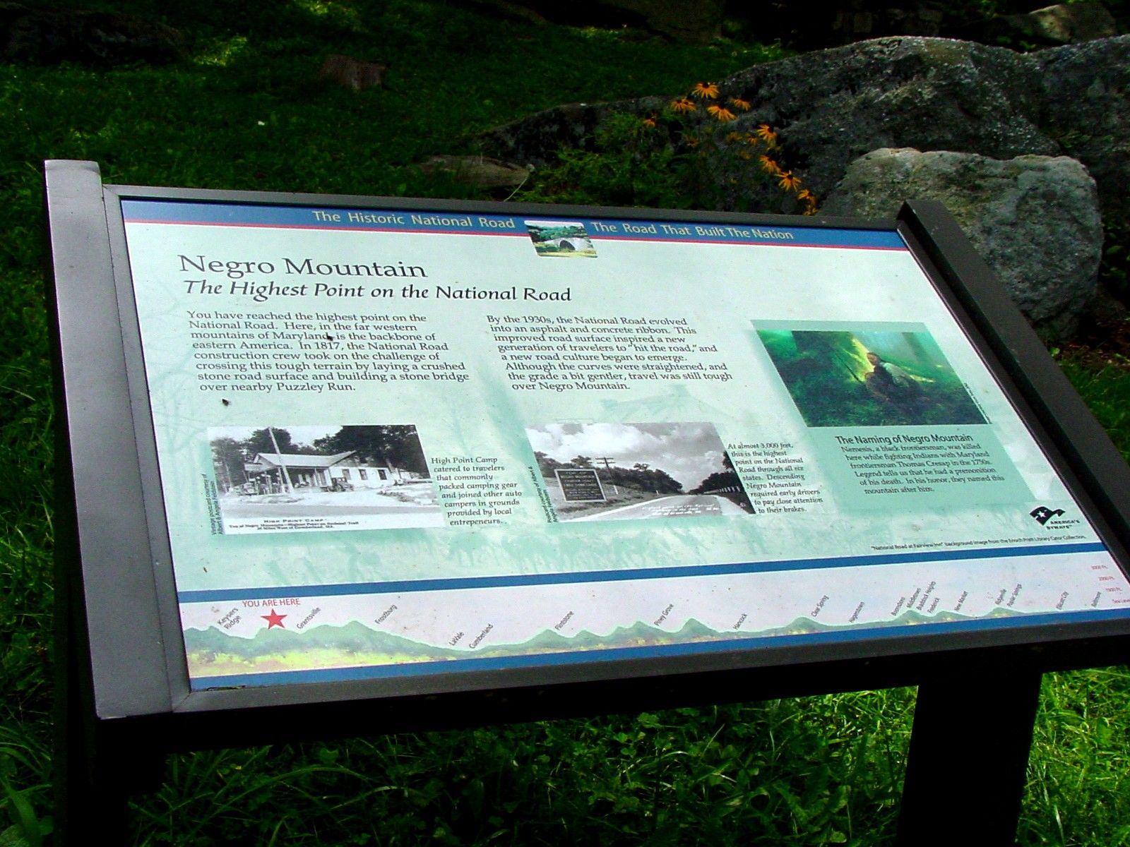 Negro Mountain Marker