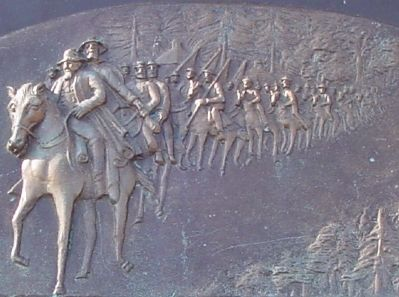 Brass Tablet Bas-Relief Detail image. Click for full size.