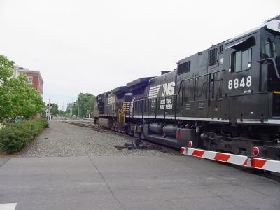 Eastbound Freight at the Battle Street Crossing image. Click for full size.