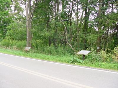 Washington-Braddock Road and Washington's Spring Marker image. Click for full size.