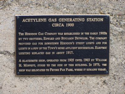 Acetylene Gas Generating Station Marker image. Click for full size.