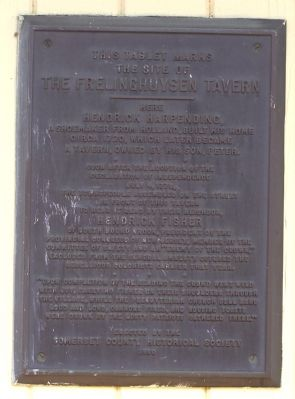 The Frelinghuysen Tavern Marker image. Click for full size.