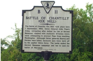 Battle of Chantilly (Ox Hill) Marker image. Click for full size.