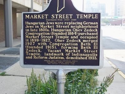 Side two: Market Street Temple Marker image. Click for full size.