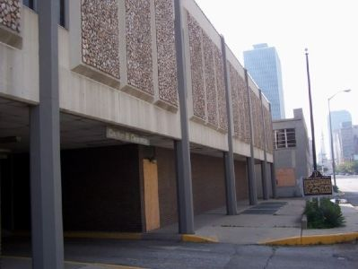 The temple is no longer located in this historic spot. It was replaced by a parking garage. image. Click for full size.