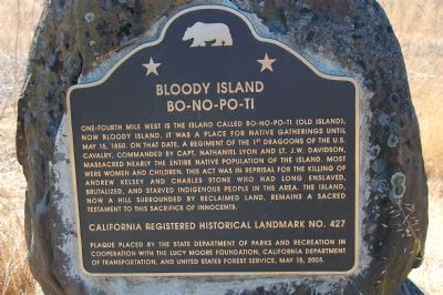 Bloody Island (BO-NO-PO-TI) Marker Photo, Click for full size