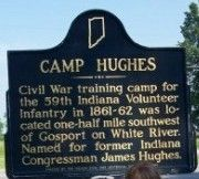 Camp Hughes Marker image. Click for full size.