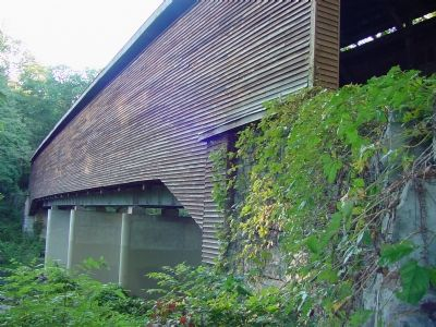 The Restored Meem�s Bottom Covered Bridge Photo, Click for full size