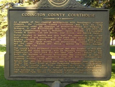 Codington County Courthouse Marker image. Click for full size.