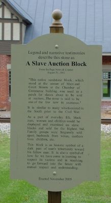 A Slave Auction Block Marker Photo, Click for full size
