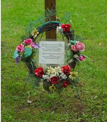 Wreath Placed at Marker Photo, Click for full size