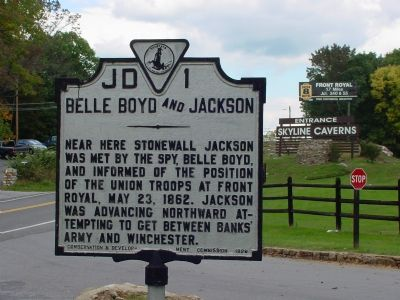 Belle Boyd and Jackson Marker image. Click for full size.