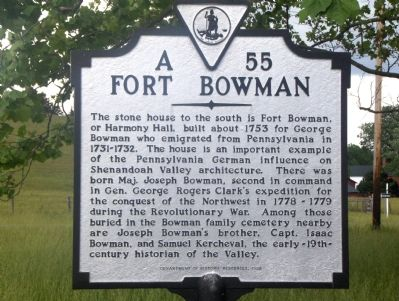 Fort Bowman Marker image. Click for full size.