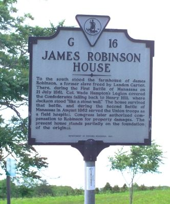 James Robinson House Marker image. Click for full size.