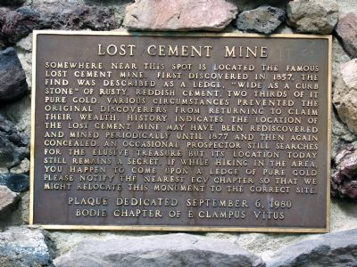 Lost Cement Mine Marker image. Click for full size.