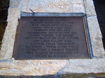 Memorial Plaque Photo, Click for full size