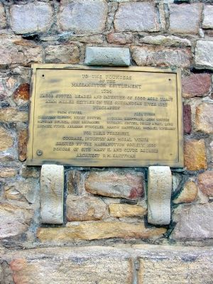 Brass Tablet On South Face, Facing the Road image. Click for full size.