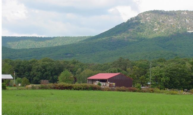 View from Monument: Shenandoah Valley and Massanutten Mountain at New Market Gap image. Click for full size.