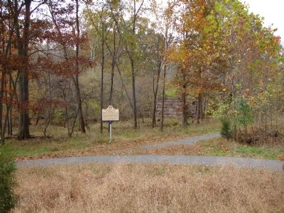 Marker and East side Abutment Photo, Click for full size