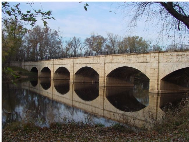 The C&O Canal Crossed the Monocacy River Over This Seven Arch Aqueduct image. Click for full size.