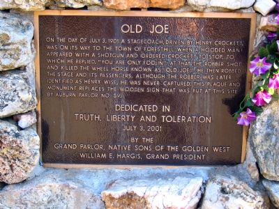 Old Joe Marker image. Click for full size.